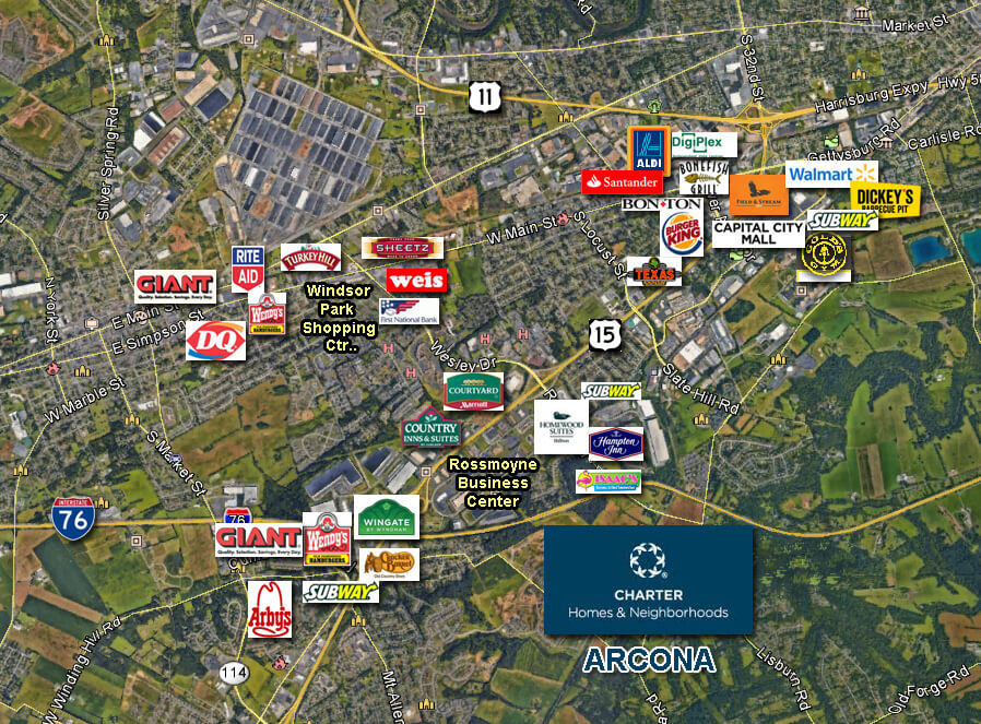Landmark Commercial Realty Retail Map
