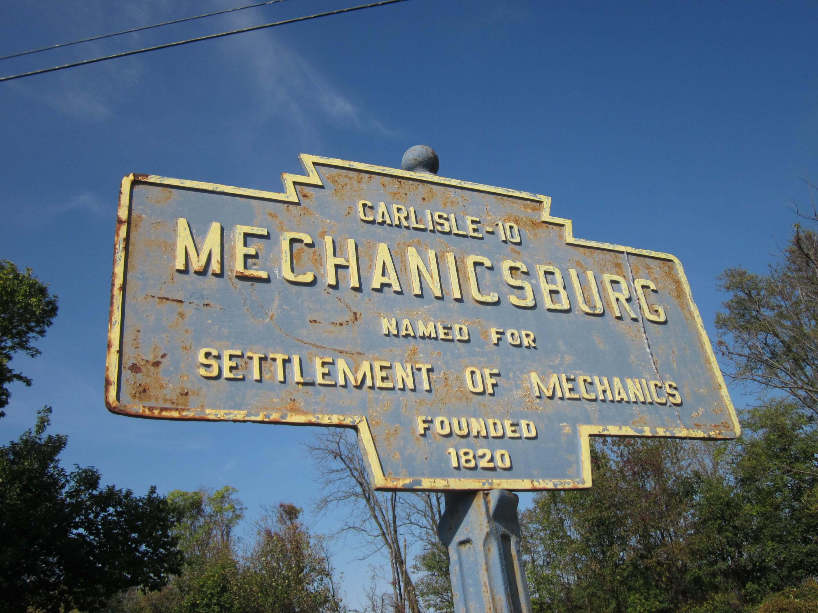 Mechanicsburg Sign
