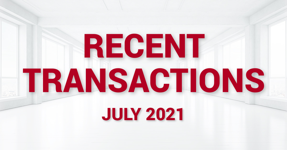 Recent Transactions - July 2021